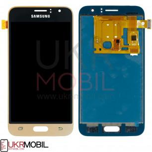 Дисплей Samsung J120 Galaxy J1 2016, с тачскрином, TFT (с регулируемой подсветкой), Gold