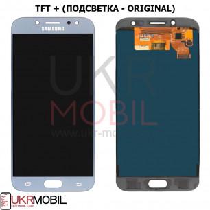 Дисплей Samsung J730 Galaxy J7 2017, TFT (подсветка - original), с тачскрином, Blue