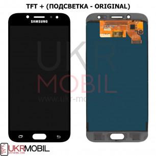 Дисплей Samsung J730 Galaxy J7 2017, TFT (подсветка - original), с тачскрином, Black
