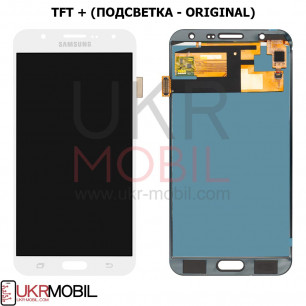 Дисплей Samsung J700 Galaxy J7, с тачскрином, TFT (с регулируемой подсветкой), White