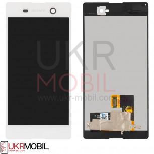 Дисплей Sony E5603 Xperia M5, E5606 Xperia M5, E5633 Xperia M5, E5653 Xperia M5, E5663 Xperia M5 Dual, с тачскрином, White