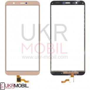 Сенсор (тачскрин) Huawei P Smart (FIG-LX1), P Smart Dual SIM (FIG-L21, FIG-L23), Enjoy 7s, High Copy, Gold