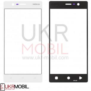Стекло дисплея Nokia 3 Dual Sim TA-1020, TA-1028, TA-1032, TA-1038, White