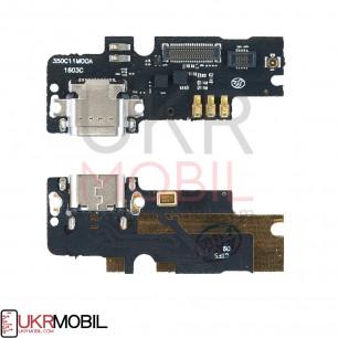 Шлейф Xiaomi Mi4c, нижняя плата с разъемом зарядки, микрофоном