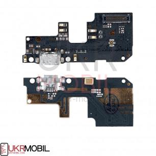 Шлейф Xiaomi Redmi 5 Plus, нижняя плата с разъемом зарядки, микрофоном, High Copy