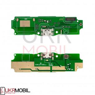 Шлейф Xiaomi Redmi 5a, нижняя плата с разъемом зарядки, микрофоном
