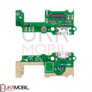 Шлейф Huawei Y6 Pro (TIT-AL00, TIT-U02), Enjoy 5, Honor Play 5X, нижняя плата с разъемом зарядки, микрофоном