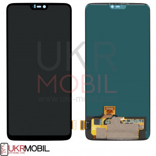 Дисплей OnePlus 6, с тачскрином, Original PRC, Black
