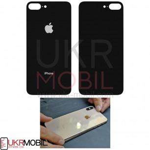 Задняя крышка Apple iPhone 8 Plus, большой вырез под камеру, Black