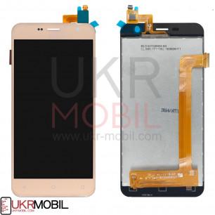 Дисплей Prestigio MultiPhone 3512 Muze B3, с тачскрином, Gold