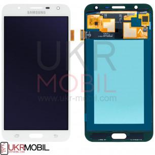 Дисплей Samsung J701 Galaxy J7 Neo, с тачскрином, OLED, White