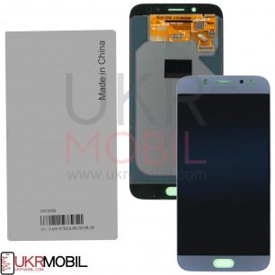 Дисплей Samsung J730 Galaxy J7 2017, GH97-20736B (SERVICE PACK ORIGINAL) с тачскрином Blue