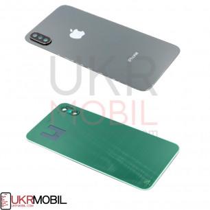 Задняя крышка Apple iPhone X, с стеклом камеры, Black