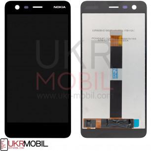 Дисплей Nokia 2 Dual Sim TA-1007, TA-1029, TA-1035, с тачскрином, Black