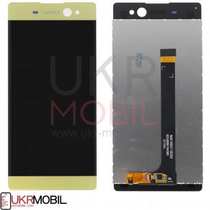 Дисплей Sony F3212 Xperia XA Ultra Dual, F3215 Xperia XA Ultra Dual, F3216 Xperia XA Ultra Dual, с тачскрином, Gold
