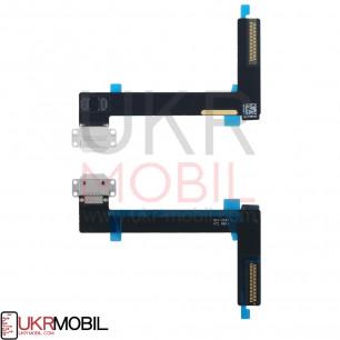 Шлейф Apple iPad Air 2 (A1566, A1567), коннектор зарядки, с компонентами, White
