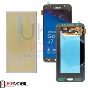 Дисплей Samsung J710 Galaxy J7 2016 GH97-18855B (SERVICE PACK) с тачскрином Black