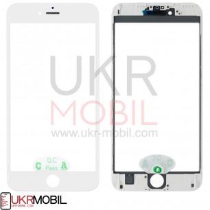 Стекло дисплея с рамкой и пленкой OCA Apple iPhone 6S Plus, Original, White
