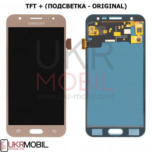 Дисплей Samsung J500 Galaxy J5 2015, с тачскрином, TFT (с регулируемой подсветкой), Gold