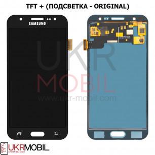 Дисплей Samsung J500 Galaxy J5 2015, с тачскрином, TFT (с регулируемой подсветкой), Black