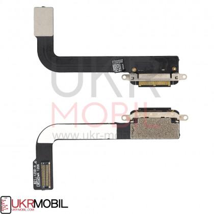 Шлейф Apple iPad 3 (A1403, A1416, A1430) коннектор зарядки, с компонентами - ukr-mobil.com
