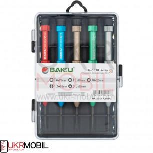 Набор отверток Baku BK-5530 (T4*25mm, T5*22mm, T6*25mm, 1.5*25mm, 0.8*25mm )
