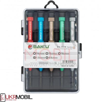 Набор отверток Baku BK-5530 (T4*25mm, T5*22mm, T6*25mm, 1.5*25mm, 0.8*25mm ), фото № 1 - ukr-mobil.com