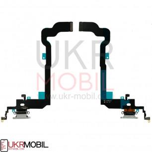 Шлейф Apple iPhone X, с разъемом зарядки, наушников и микрофоном, Original PRC, Black