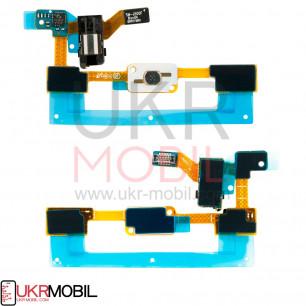 Шлейф Samsung J500F/DS Galaxy J5, кнопки меню, коннектора наушников, с компонентами