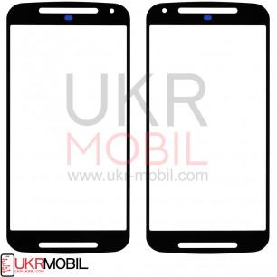 Стекло дисплея Motorola Moto G2 XT1068, Black