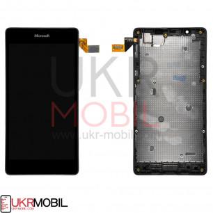 Дисплей Microsoft Lumia 540 с тачскрином, рамкой, Black