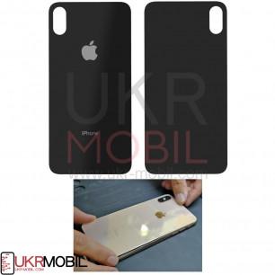 Задняя крышка Apple iPhone X, для замены без разборки корпуса, Black