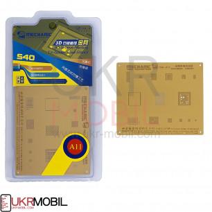 Трафарет 3D Mechanic S40-A11, для iPhone 8, iPhone 8 Plus, iPhone X