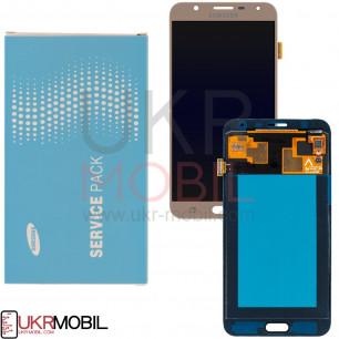 Дисплей Samsung J701 Galaxy J7 Neo, GH97-20904A, с тачскрином, Original, Gold