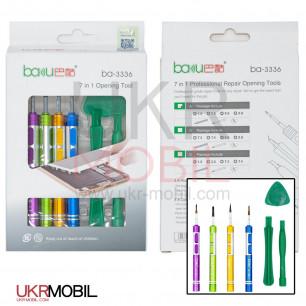 Набор инструментов Baku BA-3336A (отвёртки: Y0.6, +1.5, пенталоб 0.8, Pinhead +2,5, две лопатки, медиатор)
