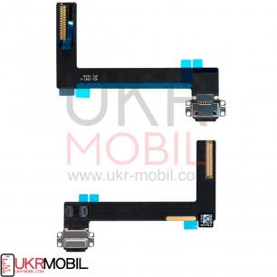 Шлейф Apple iPad Air 2 (A1566, A1567), коннектор зарядки, с компонентами, Black