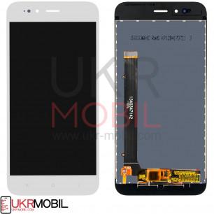 Дисплей Xiaomi Mi A1, Mi5x, с тачскрином, High Copy, White