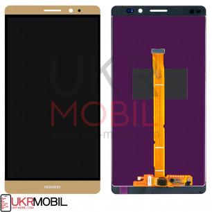 Дисплей Huawei Mate 8 (NXT-L09, NXT-L29A), с тачскрином, Gold