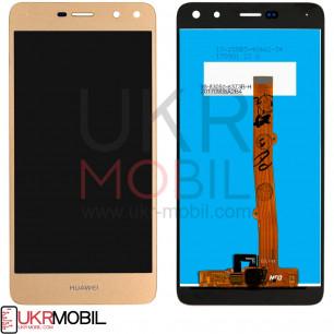 Дисплей Huawei Y5 2017 (MYA-U29), Y6 2017, Honor 6 Play, Nova Young 4G (MYA-L11), с тачскрином, High Copy, Gold