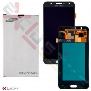 Дисплей Samsung J700 Galaxy J7, GH97-17670A, с тачскрином, Original, Black