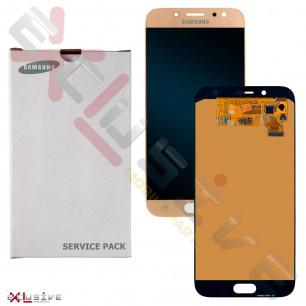 Дисплей Samsung J730 Galaxy J7 2017, GH97-20736A (SERVICE PACK ORIGINAL) с тачскрином Gold