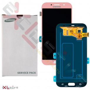 Дисплей Samsung A720 Galaxy A7 2017, с тачскрином, Original, Pink