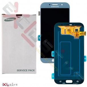 Дисплей Samsung A720 Galaxy A7 2017, с тачскрином, Original, Blue