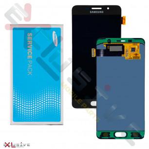 Дисплей Samsung A510 Galaxy A5 2016, GH97-18250B, с тачскрином, Service Pack Original, Black
