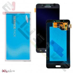 Дисплей Samsung J510 Galaxy J5 2016, GH97-19466B, с тачскрином, Original, Black