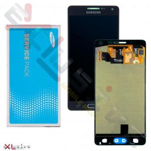 Дисплей Samsung A500 Galaxy A5, с тачскрином, Original, Black