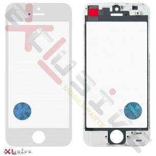 Стекло дисплея с рамкой и пленкой OCA Apple iPhone 5, Original, White