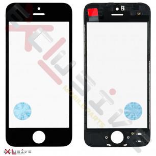 Стекло дисплея с рамкой и пленкой OCA Apple iPhone 5, Original, Black