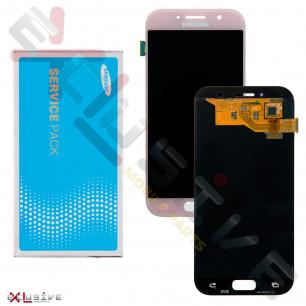 Дисплей Samsung A520 Galaxy A5 2017, GH97-19733D, с тачскрином, Original, Pink