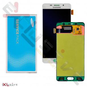 Дисплей Samsung A510 Galaxy A5 2016, GH97-18250B, с тачскрином,Service Pack Original, White